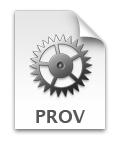 provisioningファイルのアイコン